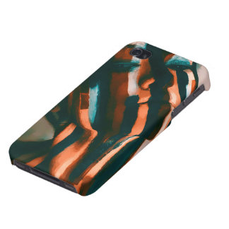 The Painted Lady of the Tigers and Waves iPhone 4/4S Case