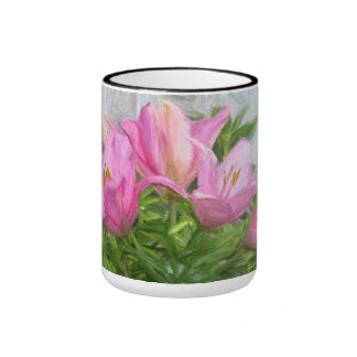 The Painted Lilies Coffee Mugs