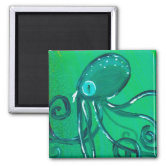 The Painted Octopus 2 Inch Square Magnet