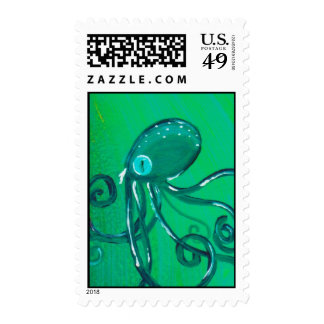 The Painted Octopus Postage Stamp