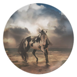 The Painted Pony Melamine Plate