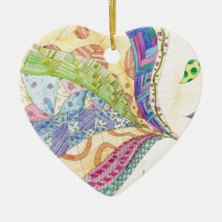 The Painted Quilt Ceramic Ornament