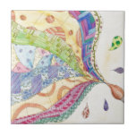 The Painted Quilt Small Square Tile