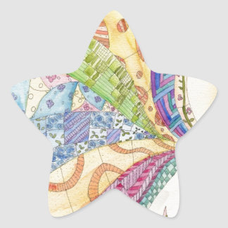 The Painted Quilt Star Sticker