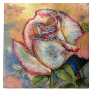 """THE PAINTED ROSE"" by CR SINCLAIR Ceramic Tile"