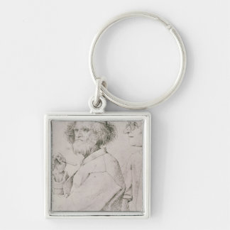 The Painter and the Art Lover Keychain