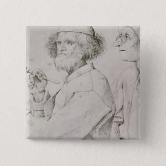 The Painter and the Art Lover Pinback Button