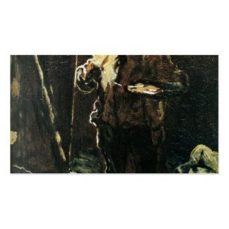 The Painter at His Easel by Honore Daumier Business Card Template