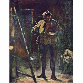 The Painter At The Easel By Daumier Honoré Statuette