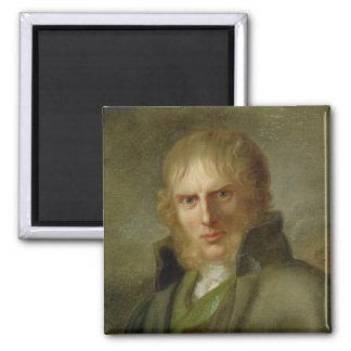 The Painter Caspar David Friedrich 2 Inch Square Magnet