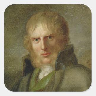 The Painter Caspar David Friedrich Square Sticker