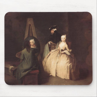 The Painter in his Studio by Pietro Longhi Mousepads