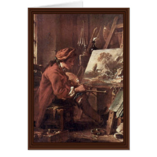 The Painter In His Studio Self-Portrait Greeting Card
