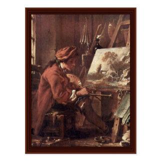 The Painter In His Studio Self-Portrait Postcards