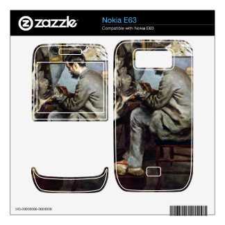 The painter in the studio of Bazille by Renoir Decal For The Nokia E63
