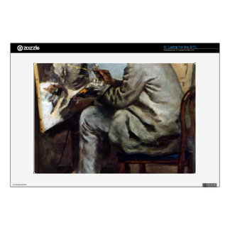 The painter in the studio of Bazille by Renoir Laptop Decal