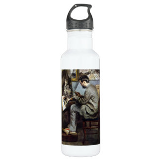 The painter in the studio of Bazille by Renoir Stainless Steel Water Bottle
