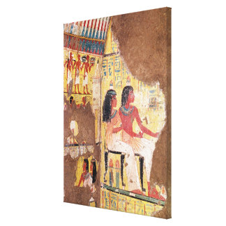The painter Maie and his wife seated Canvas Print