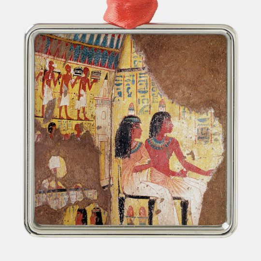 The painter Maie and his wife seated Metal Ornament