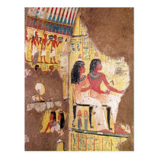 The painter Maie and his wife seated Postcard