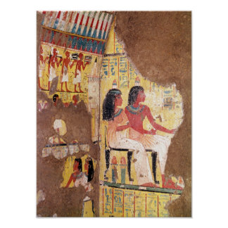 The painter Maie and his wife seated Poster