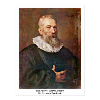 The Painter Marten Pepyn By Anthony Van Dyck Post Cards