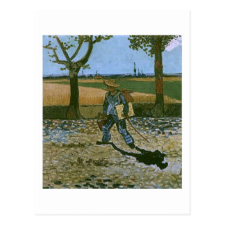 The Painter on His Way to Work, Van Gogh Fine Art Postcard