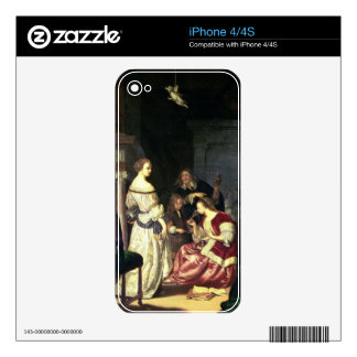 The Painter with his Family, 1675 (oil on panel) Decals For iPhone 4