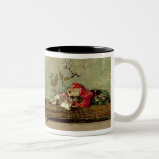 The Painter's Children in the Japanese Salon Two-Tone Coffee Mug