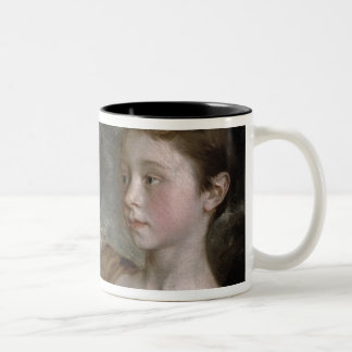 The Painter's Daughters Mary and Margaret, c.1758 Two-Tone Coffee Mug