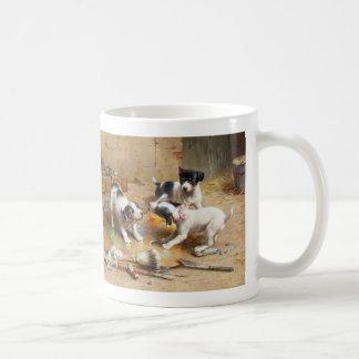The Painters' Dispute by Carl Reichert Coffee Mug