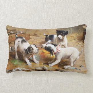 The Painters' Dispute by Carl Reichert Lumbar Pillow