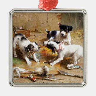 The Painters' Dispute by Carl Reichert Metal Ornament