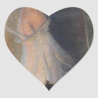 The Painter's Muse by Henri Martin Heart Sticker