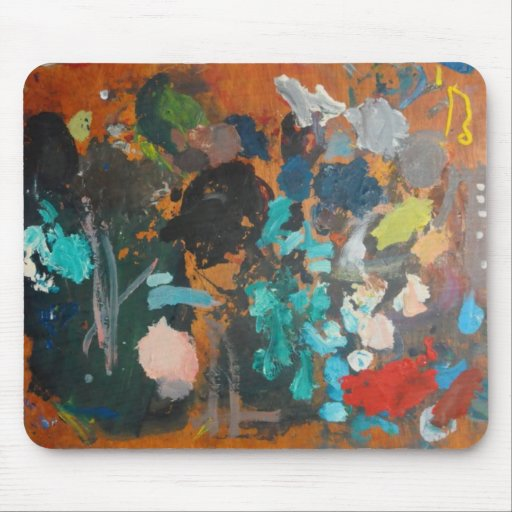 The painter's old palette - Mousemat Mouse Pad