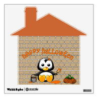 The Painting Penguin Happy Halloween Wall Decal