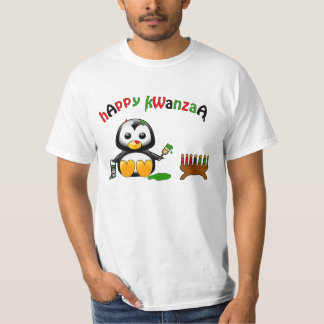 The Painting Penguin Happy Kwanzaa T-Shirt