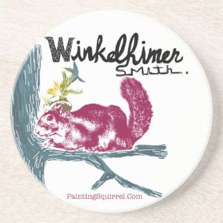 The Painting Squirrel,Winkelhimer Smith Drink Coaster