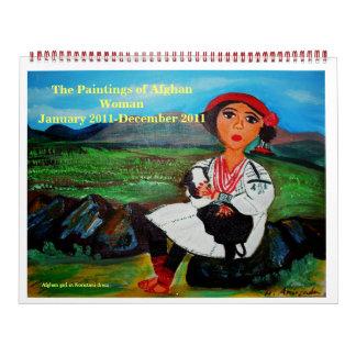 The Paintings of Afghan Woman  Calender Calendar