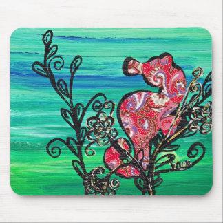 The Paisley Sea Horse mousepad