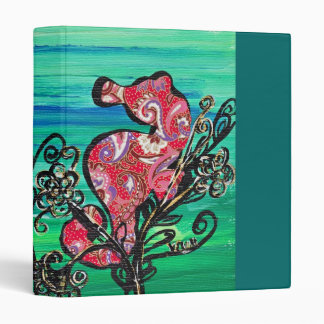 The Paisley Seahorse binder