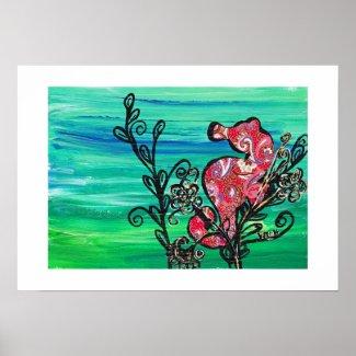The Paisley Seahorse Print print