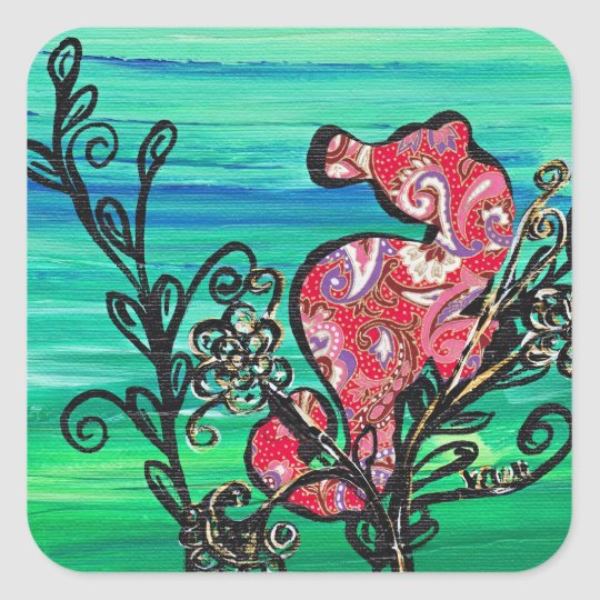 The Paisley Seahorse stickers