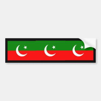 the Pakistan Tehreek e Insaf, Pakistan Bumper Sticker