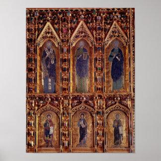 The Pala d'Oro, detail depicting three apostles Poster