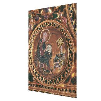 The Pala d'Oro, detail of St. Matthew Canvas Print
