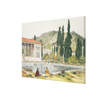The Palace and Gardens of Ashref, Persia, plate 80 Canvas Print