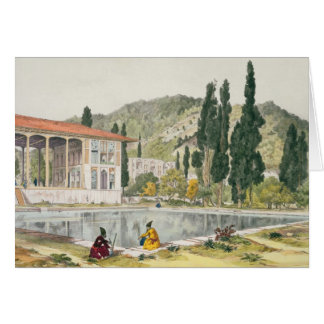 The Palace and Gardens of Ashref, Persia, plate 80 Card