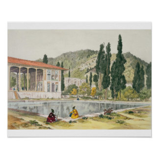 The Palace and Gardens of Ashref, Persia, plate 80 Poster