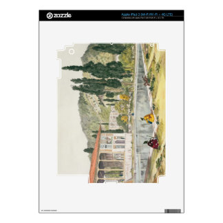 The Palace and Gardens of Ashref, Persia, plate 80 iPad 3 Decal